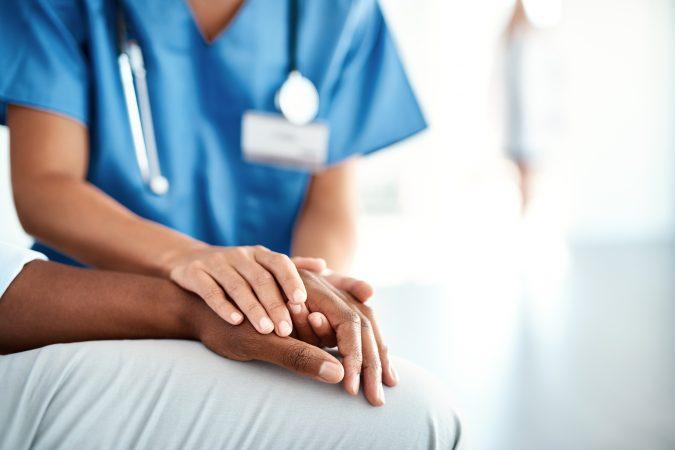 Apotheco - nurse comforting a patient