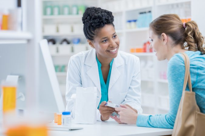 Apotheco - Pharmacy customer asks pharmacist question about medication